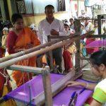CEO Smt. Chirom Indira, Manager W. Joyshankar Luwang & ToT Mala Sinha on skill training at Tripura