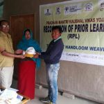 RPL Manager W. Joyshankar Luwang distributed RPL Kits to the Trainees at Wangkhem Bazar