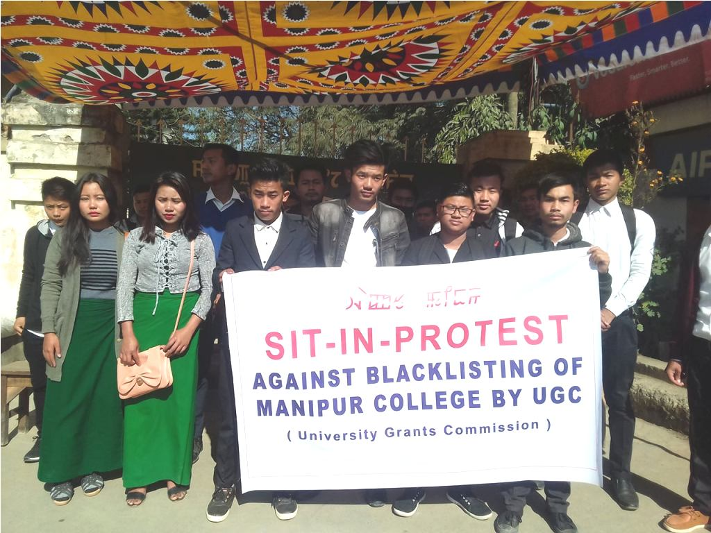 Manipur college protest