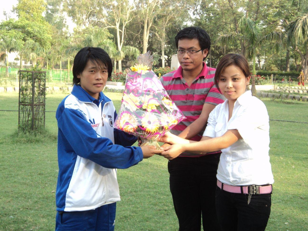 MSAD felicitation ceremony of Manipuri boxer Sarjubala Devi on May 1, 2011 at New Delhi.