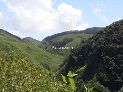 View of Dzuko Valley, Manipur