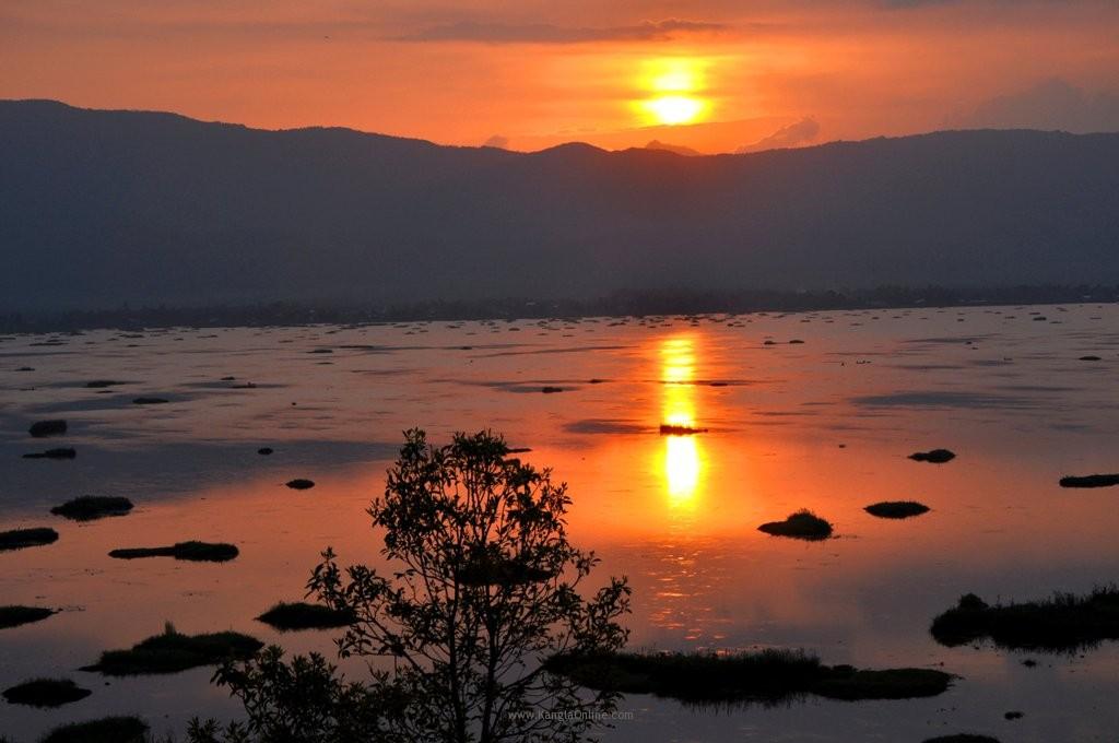 Sunset at Loktak Lake Manipur