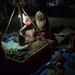 Night Scene of Keithel - Marketplace at Manipur