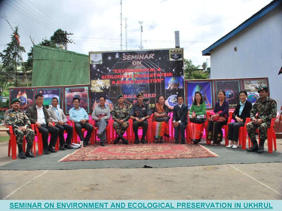 Manipur: Assam Rifles conducts seminar ON ENVIRONMENT AND ECOLOGICAL PRESERVATION IN UKHRUL : Photo Courtesy: Assam Rifles Official Site