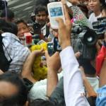 MC Mary Kom at IGI Airport New Delhi