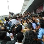 MSAD Mary Kom and Laishram Devendro Singh at IGI Airport New Delhi