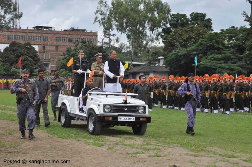 Chief Minister of Manipur collapses 2 times: The function was attended by the Chief Minister along with top officials of various government departments. The Tricolor flag was hoisted by the Chief Minister and after inspection of the guard  he gave salute to thirty contingents.