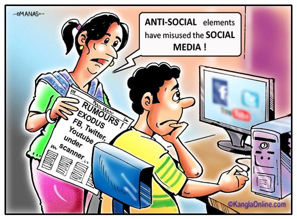 North East exodus, Social media, fb, twitter, youtube under scanner