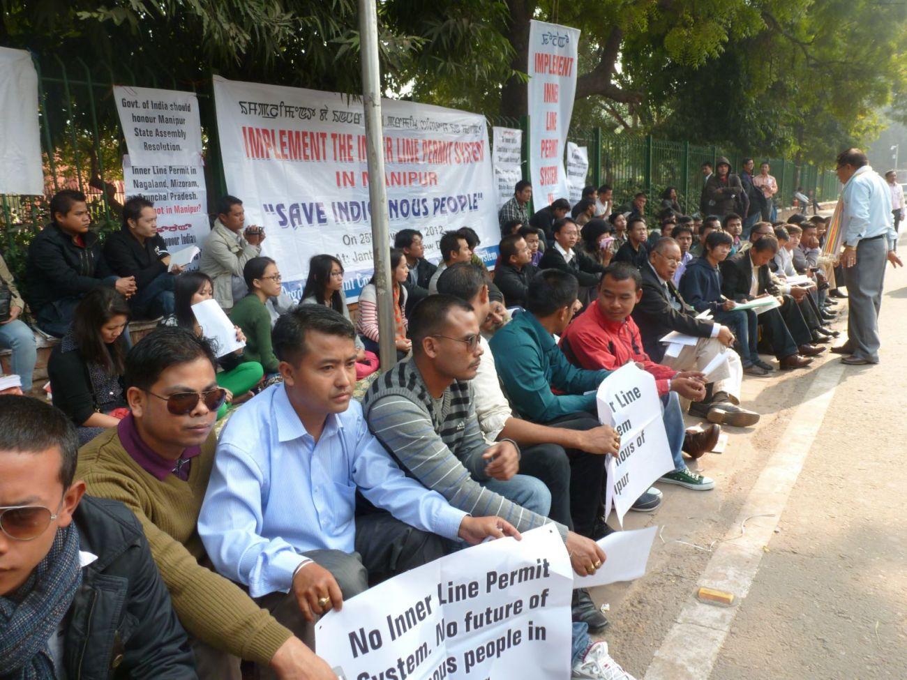 Sit-in Demonstration at Jantar Mantar, New Delhi