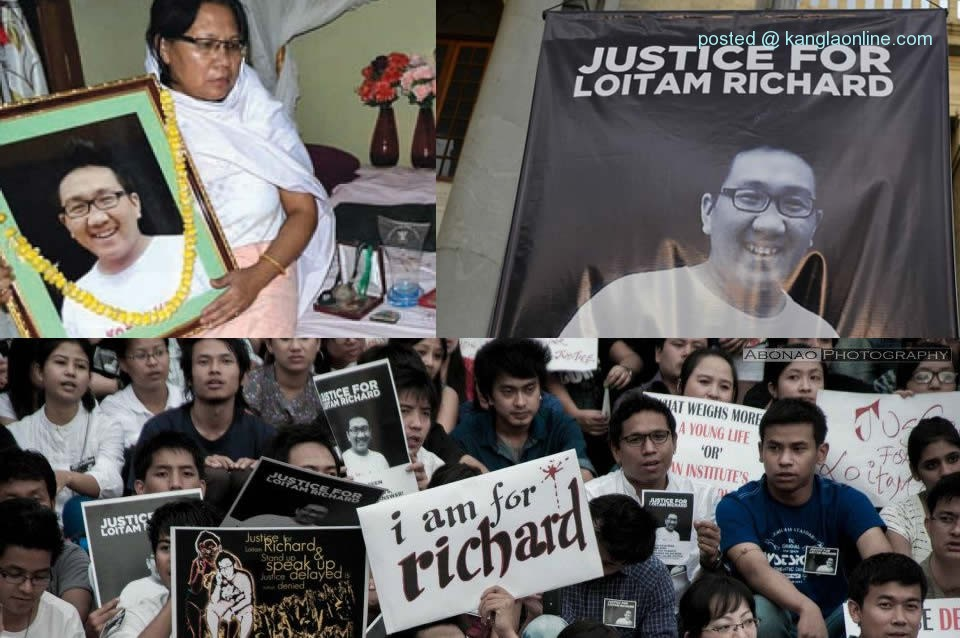 Struggle for Justice during the Last Rites & Immersion of Richard's death ceremony: Justice for Loitam Richard