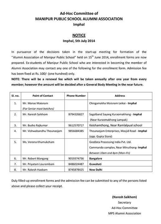 Manipur Public School (MPS) Alumni