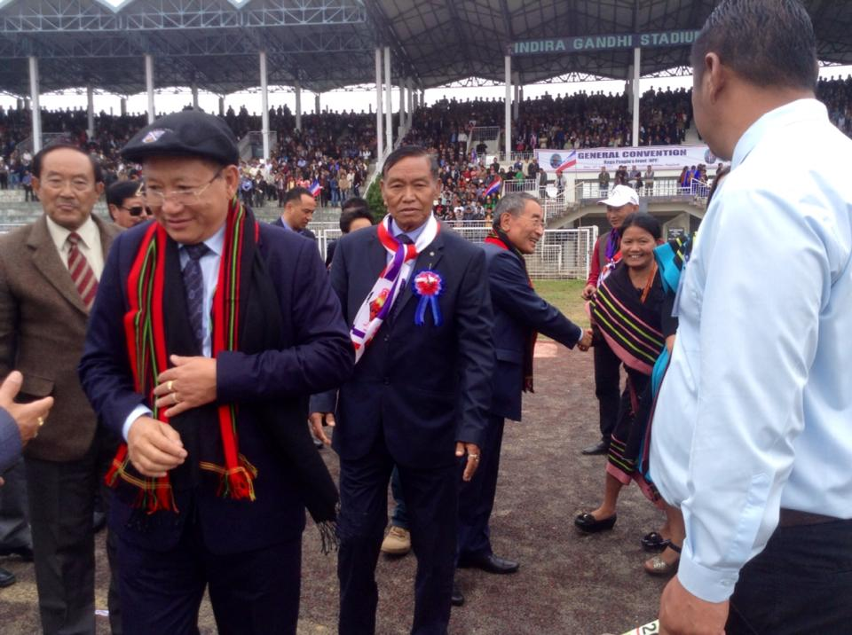 Chief Minister TR Zeliang arriving at IG Stadium for NPF General Convention