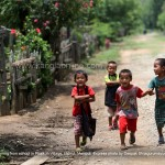 School children returning from school in Phaikoh Village, Ukhrul, Manipur. Express photo by Deepak Shijagurumayum.