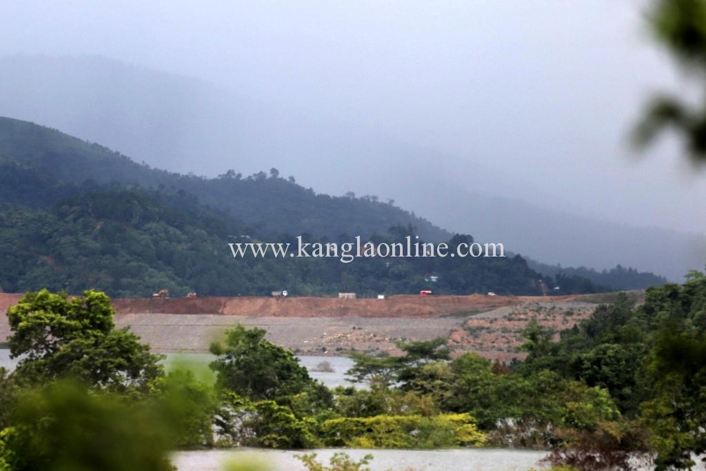 View of Mapithel dam from Chadong Village. Photo by Deepak Shijagurumayum.