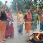 Manipur ILP Demand - Jiribam: In front of Th. Debendra's residence