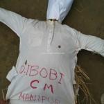 Manipur ILP Demand - Jiribam: Effigy of CM O Ibobi