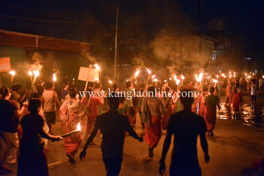 ILP, ILPS, torch rally, manipur