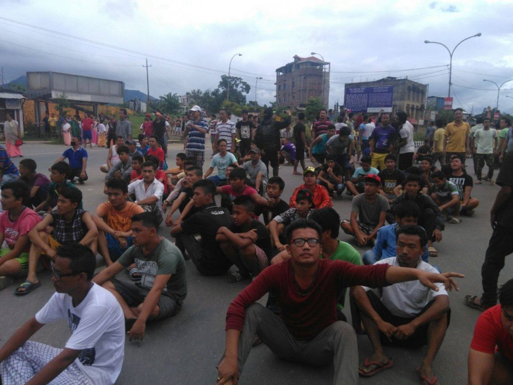 ILPS Demand Protest in Manipur - Students injured in police action