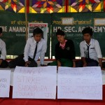 Students' began hunger strike to implement ILPS in Manipur on Friday at Ananda Singh Academy, Imphal-East, Manipur. Express photo by Deepak Shijagurumayum.