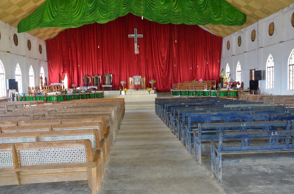 Ngainga church interior. Photo- Chingtham Balbir Khuman