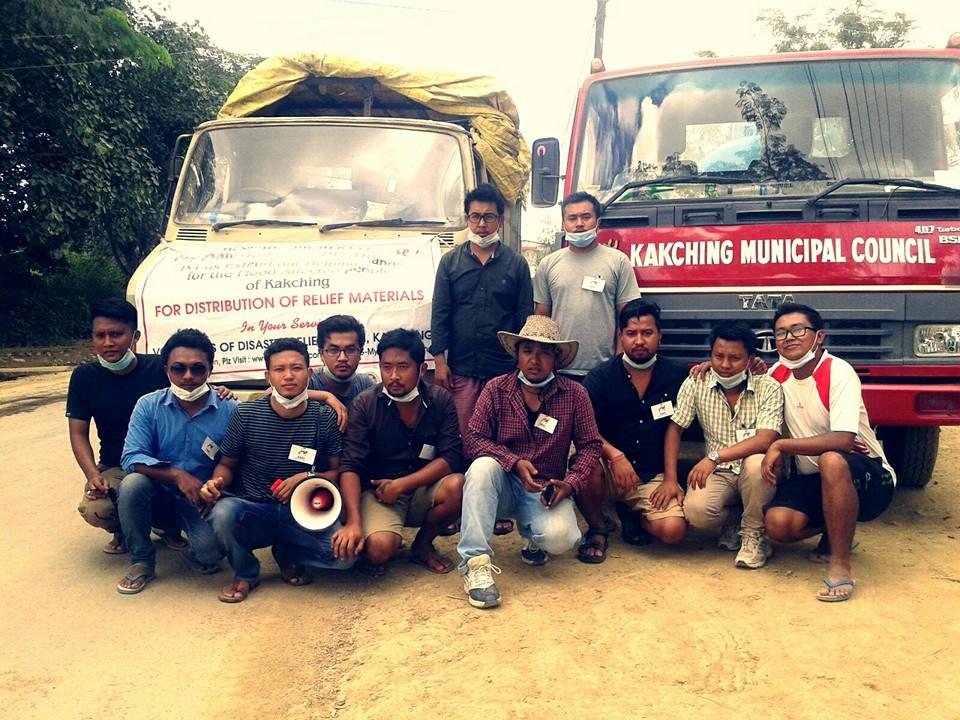 Volunteers of Disaster Relief Forum Manipur