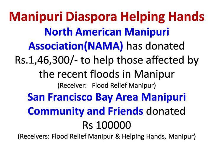 San Francisco Bay Area Manipuri Community Flood Relief donation