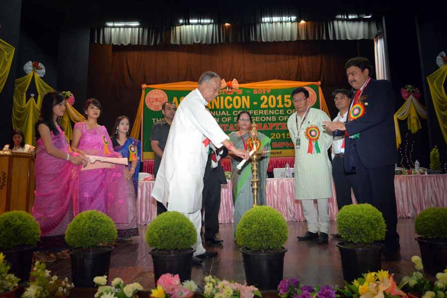 CM Ibobi Manipur RIMS ASIMANICON 2015
