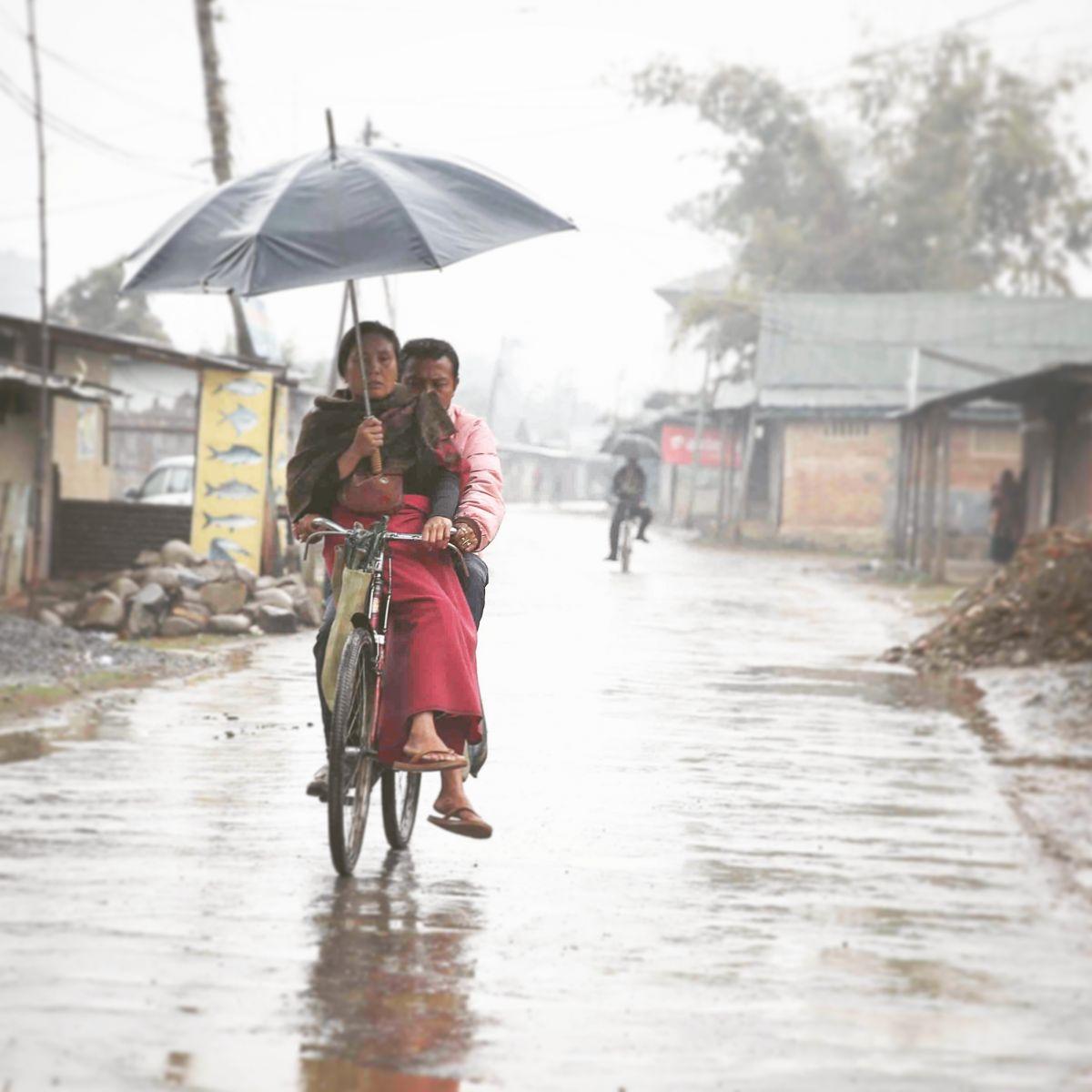 Manipuri Couple on Rainy Day
