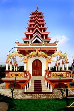 Ebudhou Pakhanba Temple at MMRC Park Khangabok Front View