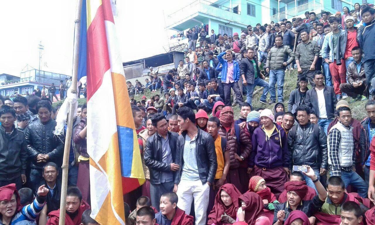 Tawang Protesters against Dam: Save Mon Region Federation (SMRF) Arunachal Pradesh