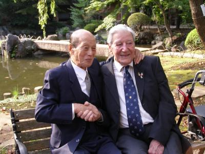 British War veteran Roy Welland (Right) and Japanese veteran Isobe Kiichi has fought each other in Imphal in 1944.