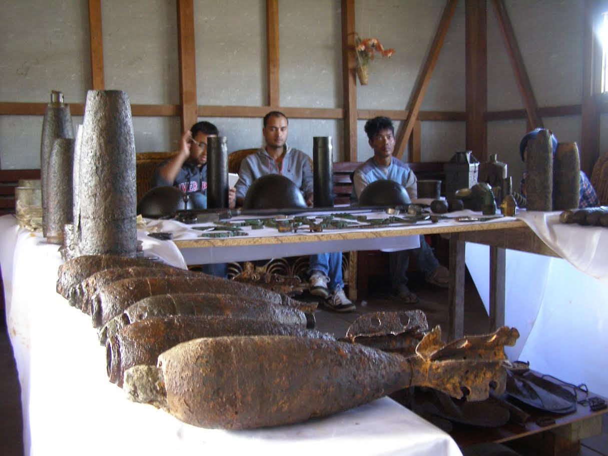 A museum of spent and live ordnance in Manipur.