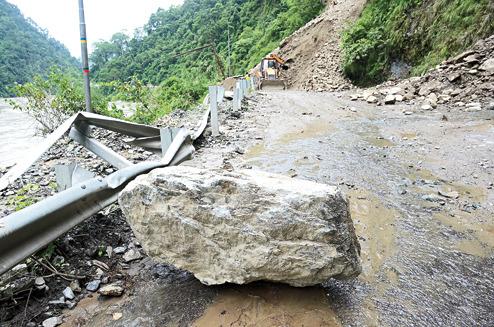 Slides shut Sikkim Road