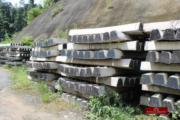 railway project at makru area, tamenglong