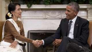 Aung San Suu Kyi visits Washington