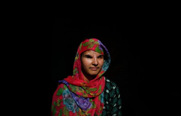 Insha Mushtaq lost vision in both her eyes as a result of injuries sustained by pellet injuries