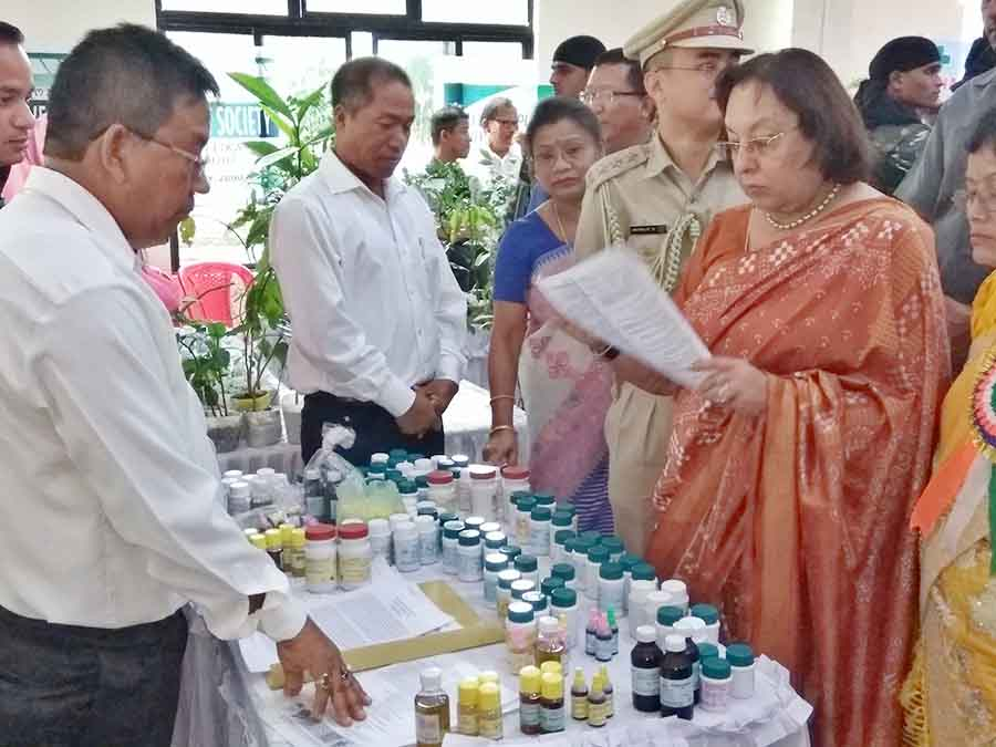 Governor Najma Heptulla launches a national campaign on Medicinal Plants and inaugurated a one-day state level buyers-sellers meet on Medicinal Plants at the Indian Medical Association (IMA) House, Lamphel.