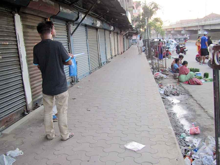 A deserted view of Khwairamband Keithel - IFP photo