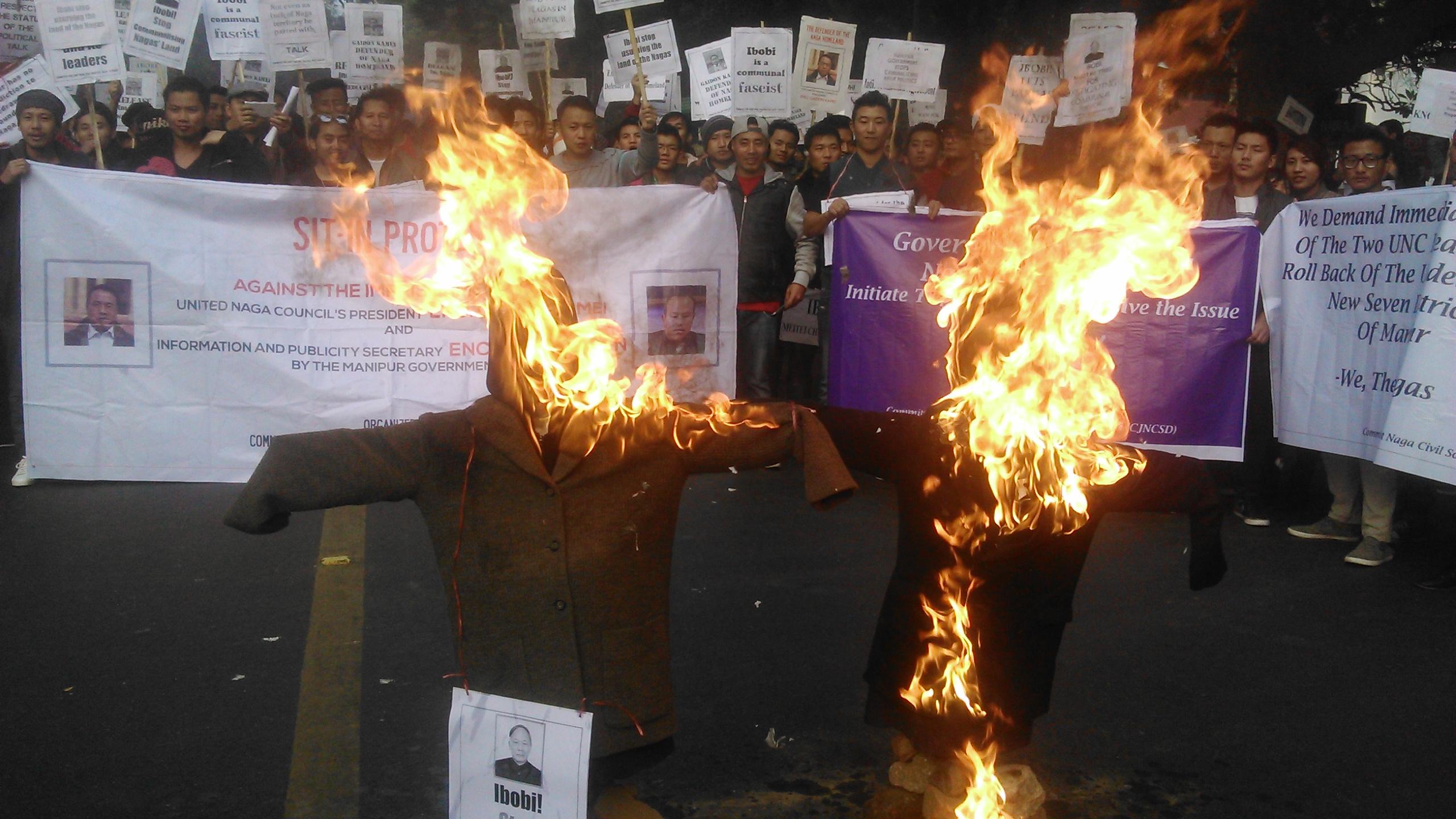 Nagas protest in Delhi