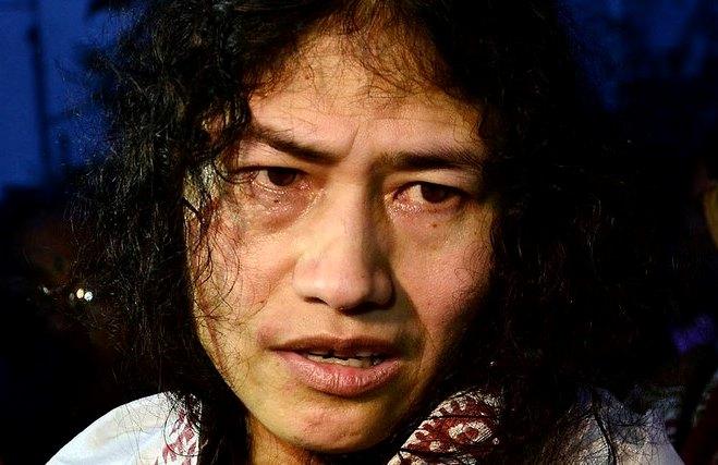 Human Rights Activist Irom Sharmila addressing media persons. (Photo: Reuters)